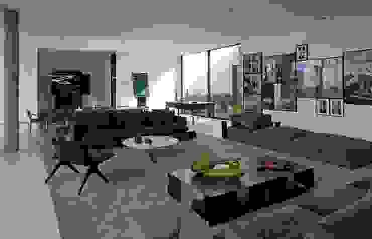 Casa Capitão do Mato Salas de estar modernas por Hermanny Arquitetura Moderno