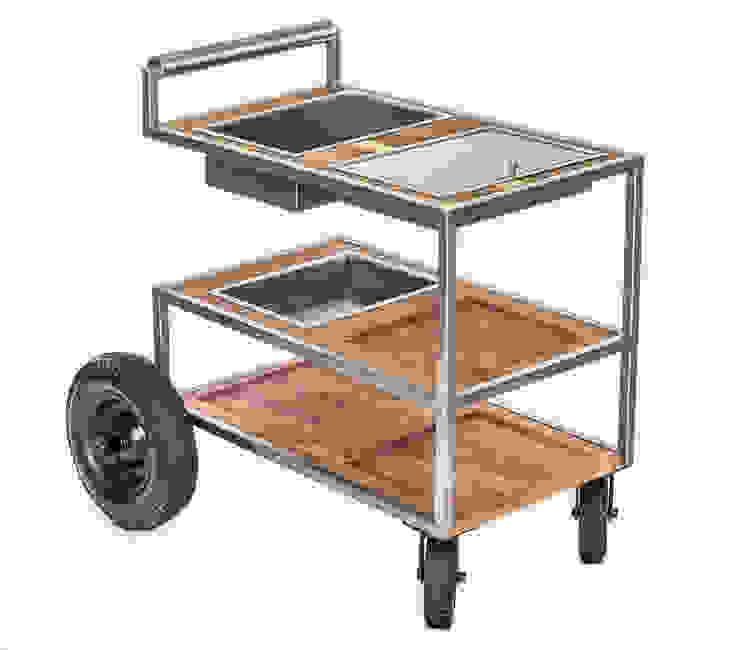 Carrito de comida Henri:  de estilo industrial por Etienne Design, Industrial Metal