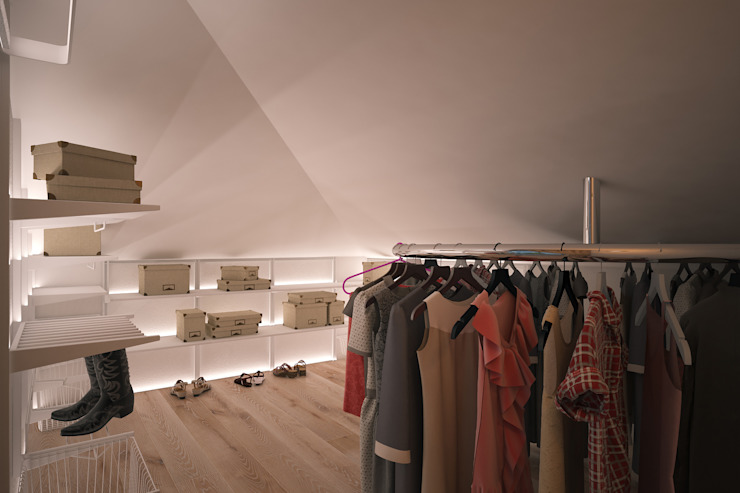 Minimalist style dressing rooms by Solo Design Studio Minimalist