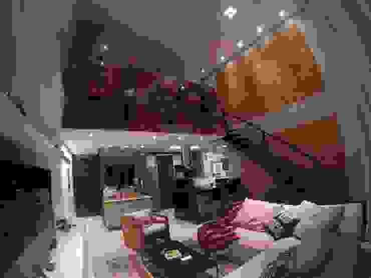 Modern living room by LMT Arquitetura Modern Bricks