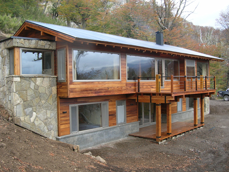 Modern Houses by Aguirre Arquitectura Patagonica Modern Wood Wood effect