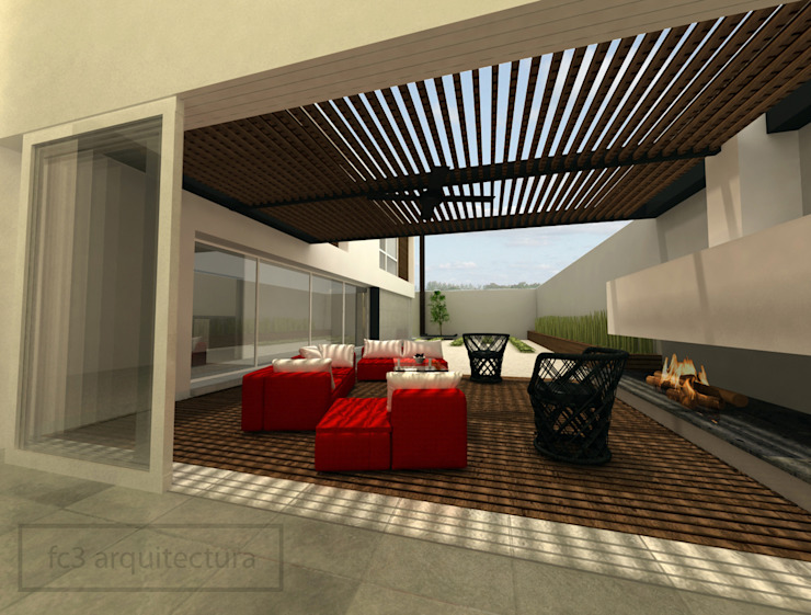 Terrace by fc3arquitectura, Modern