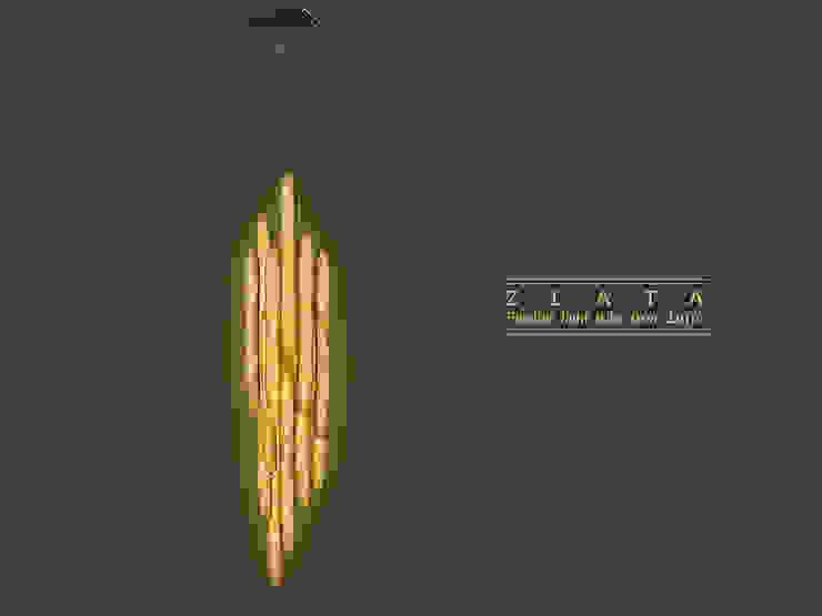 Zlata- Flexible tube light made from luffa plant di KIMXGENSAPA Moderno Fibre naturali Beige