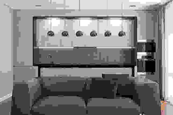 Проект гостиной в минской новостройке Гостиная в стиле модерн от Студия интерьера МЕСТО Модерн