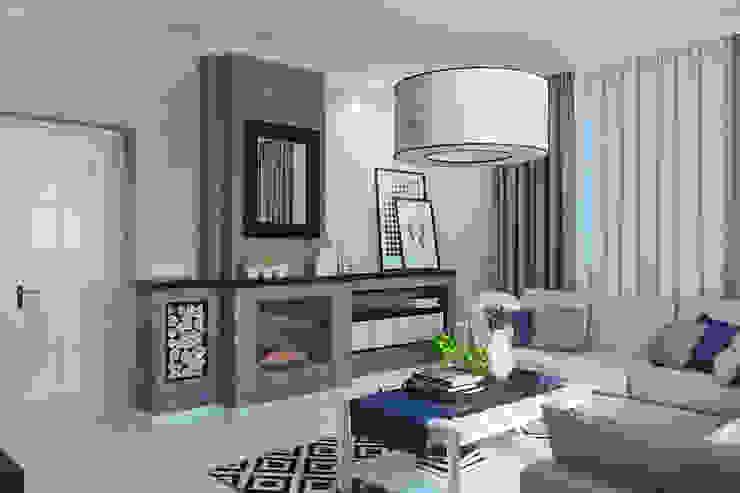 Частный дом в Зарице Гостиная в стиле модерн от Студия интерьера МЕСТО Модерн