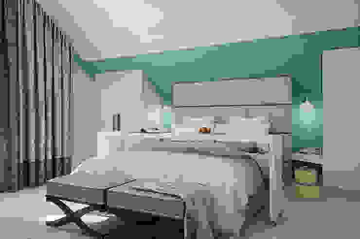 Частный дом в Зарице Спальня в стиле модерн от Студия интерьера МЕСТО Модерн