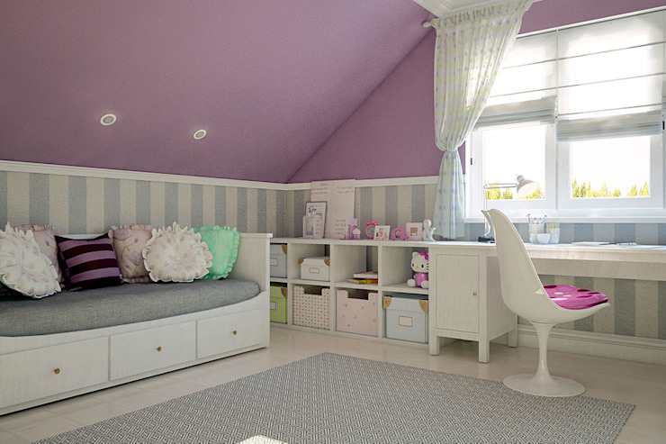 Частный дом в Зарице Детская комната в стиле модерн от Студия интерьера МЕСТО Модерн