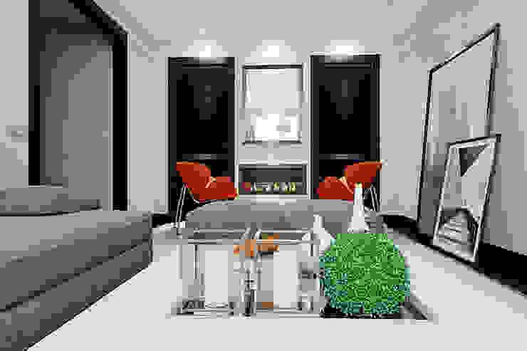 Квартира в Ольшанке Гостиная в стиле модерн от Студия интерьера МЕСТО Модерн
