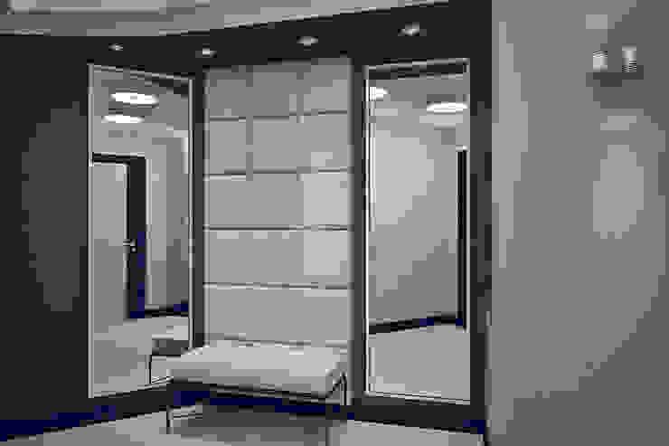 Квартира в Ольшанке Коридор, прихожая и лестница в модерн стиле от Студия интерьера МЕСТО Модерн