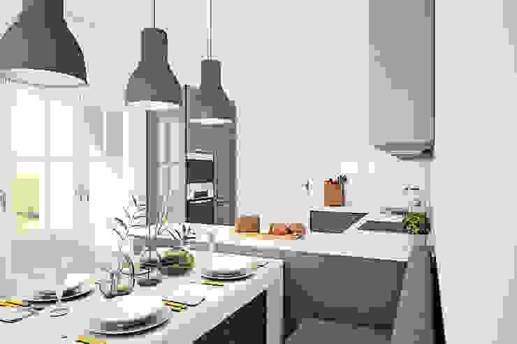 Дом в Коробчицах Кухня в скандинавском стиле от Студия интерьера МЕСТО Скандинавский