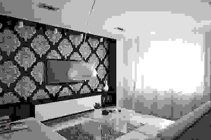 Проект квартиры в монолитном доме Гостиная в стиле минимализм от Студия интерьера МЕСТО Минимализм
