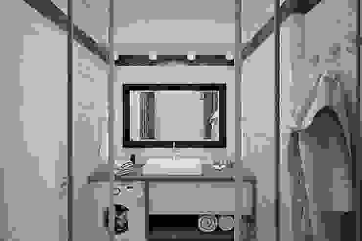 Проект квартиры в монолитном доме Ванная комната в стиле минимализм от Студия интерьера МЕСТО Минимализм