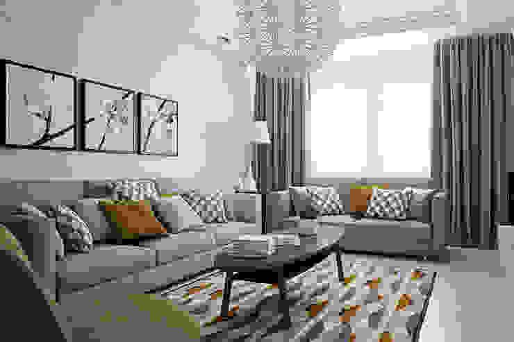 Квартира в районе Ольшанка Гостиная в стиле модерн от Студия интерьера МЕСТО Модерн