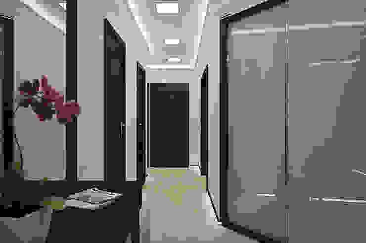 Квартира в районе Ольшанка Коридор, прихожая и лестница в модерн стиле от Студия интерьера МЕСТО Модерн