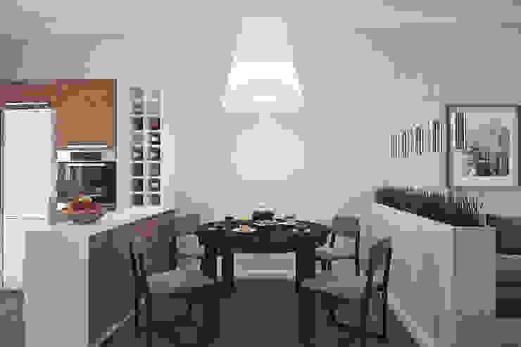 Дом в Погоранах Столовая комната в стиле модерн от Студия интерьера МЕСТО Модерн