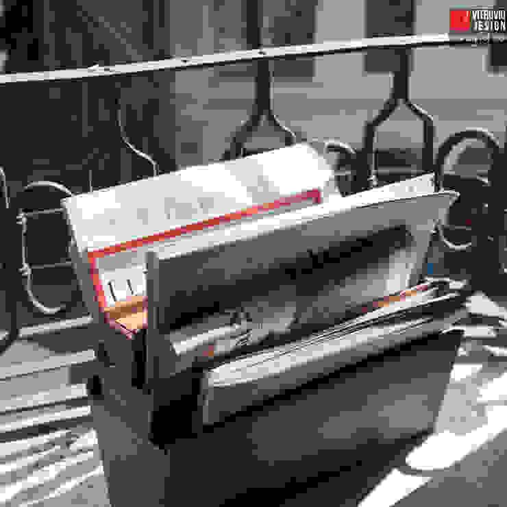 Uno, due, sei | Wooden magazine rack de Vitruvio Design Moderno Madera Acabado en madera