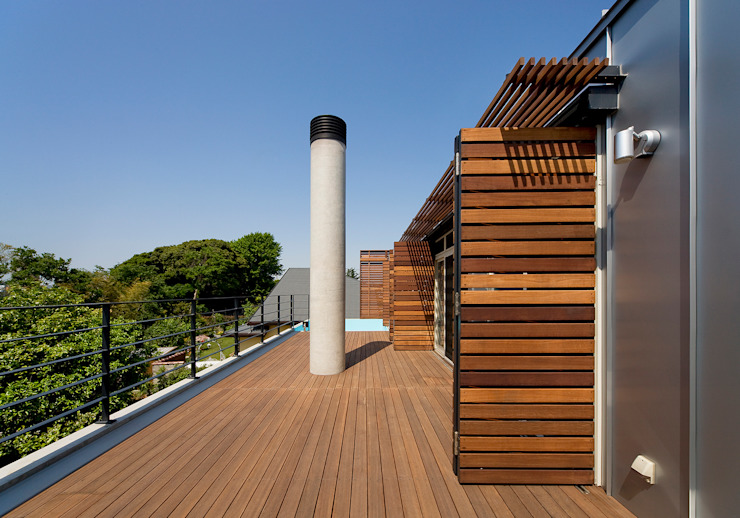 Modern terrace by モリモトアトリエ / morimoto atelier Modern Wood Wood effect