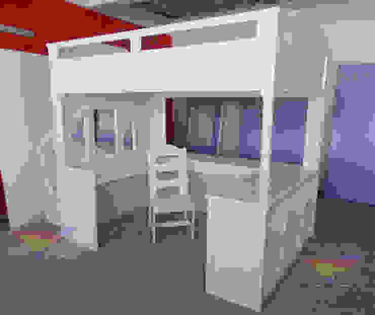 Fabulosa y elegante cama alta de camas y literas infantiles kids world Moderno Madera Acabado en madera