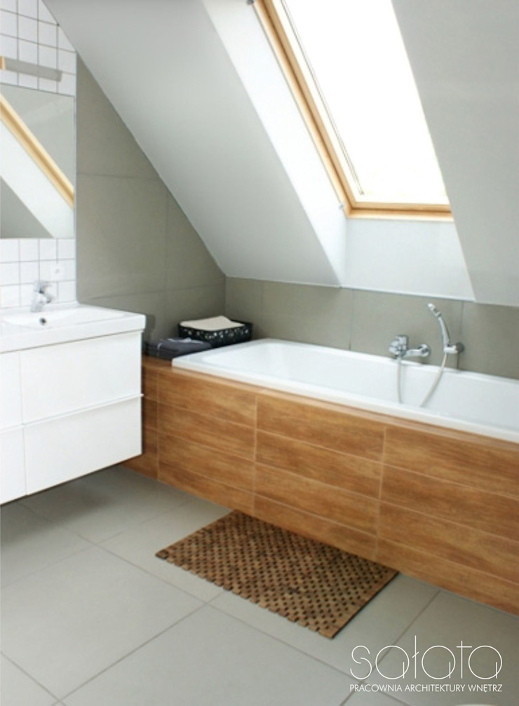 Salle de bain scandinave par Sałata-Pracownia Architektury Wnętrz Scandinave
