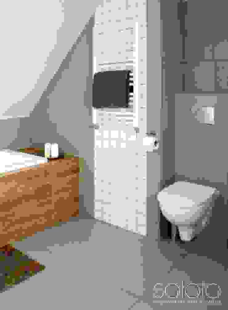 Dom jednorodzinny II, Maszewo. Skandynawska łazienka od Sałata-Pracownia Architektury Wnętrz Skandynawski