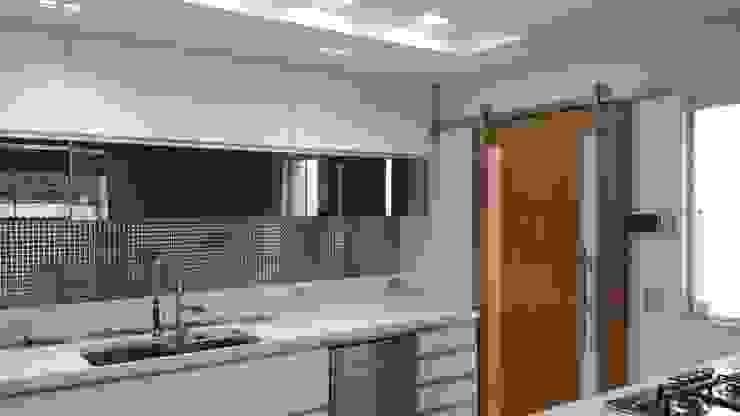 Projeto cozinha integrada ao jantar. Por Lucio Nocito Arquitetura Cozinhas modernas por Lucio Nocito Arquitetura e Design de Interiores Moderno