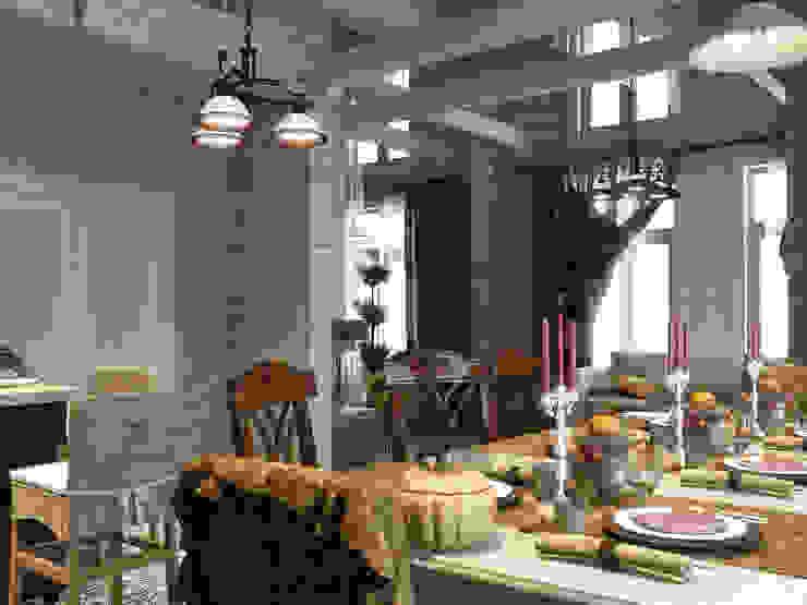Столовая Столовая комната в стиле кантри от Студия Архитектуры и Дизайна Алисы Бароновой Кантри