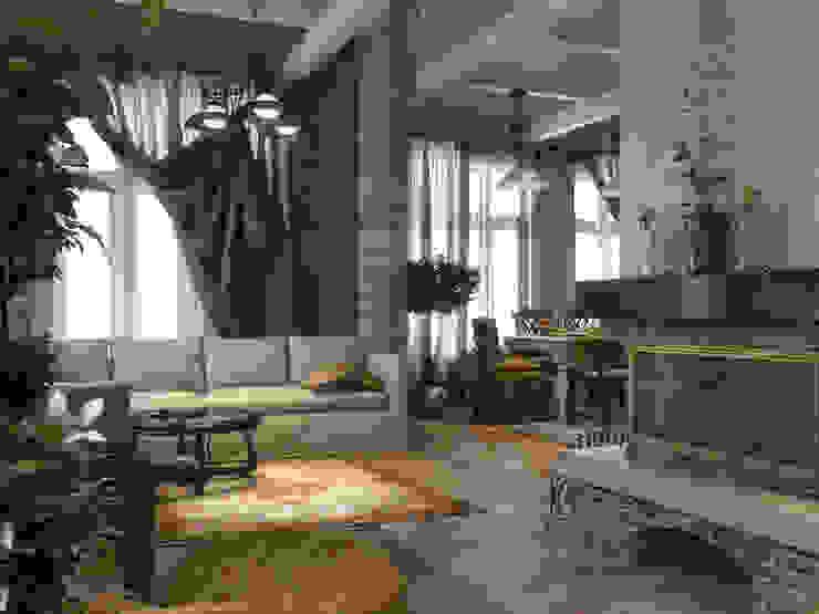 Гостиная Гостиная в стиле кантри от Студия Архитектуры и Дизайна Алисы Бароновой Кантри