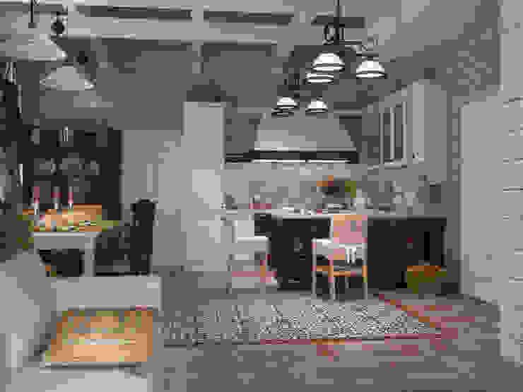 Дом из бруса 1 Кухня в стиле кантри от Студия Архитектуры и Дизайна Алисы Бароновой Кантри