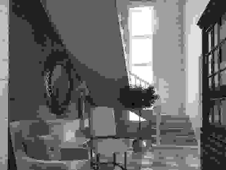 Дом из бруса 1 Коридор, прихожая и лестница в стиле кантри от Студия Архитектуры и Дизайна Алисы Бароновой Кантри