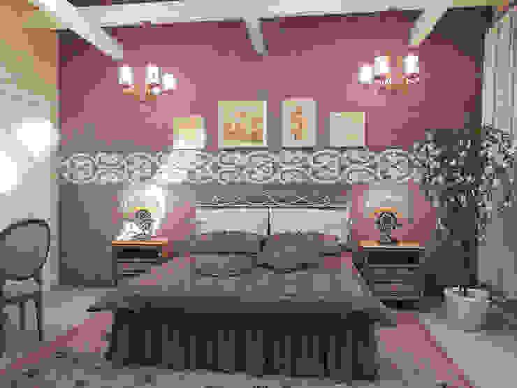 Дом из бруса 1 Спальня в стиле кантри от Студия Архитектуры и Дизайна Алисы Бароновой Кантри