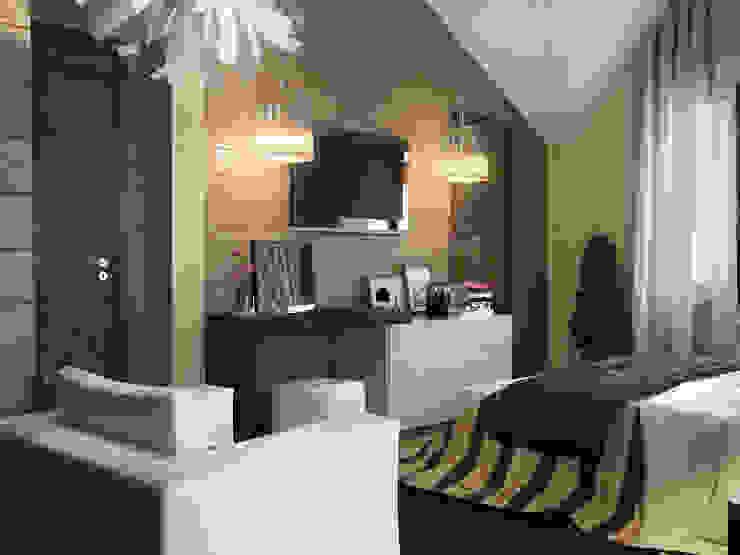 Дом из бруса 2 Спальня в скандинавском стиле от Студия Архитектуры и Дизайна Алисы Бароновой Скандинавский