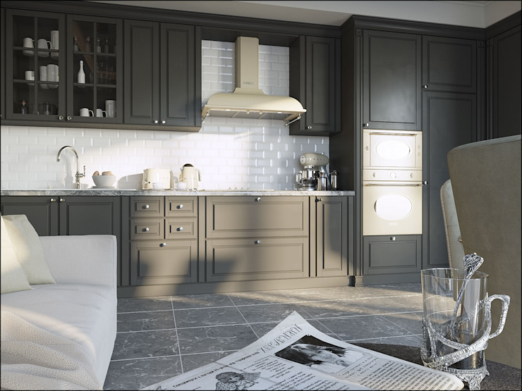 Дизайн квартиры в Дагомысе Кухня в классическом стиле от Студия Архитектуры и Дизайна Алисы Бароновой Классический