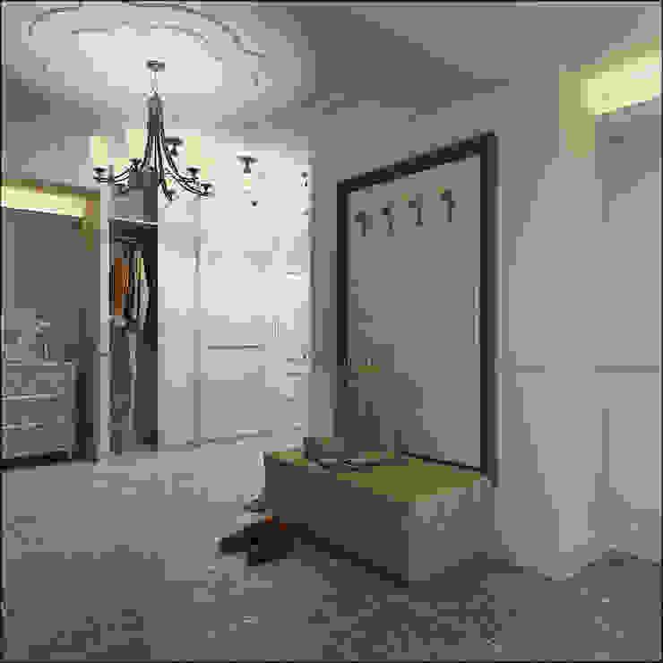 Дизайн квартиры в Дагомысе Коридор, прихожая и лестница в классическом стиле от Студия Архитектуры и Дизайна Алисы Бароновой Классический