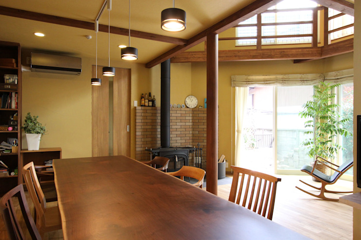 Country style dining room by アトリエグローカル一級建築士事務所 Country