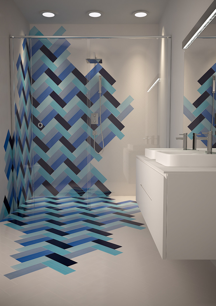 CERAMICHE MUSA Modern Bathroom Ceramic Blue