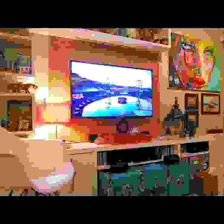 Detalhes sala de estar. Salas de estar ecléticas por Lucio Nocito Arquitetura e Design de Interiores Eclético