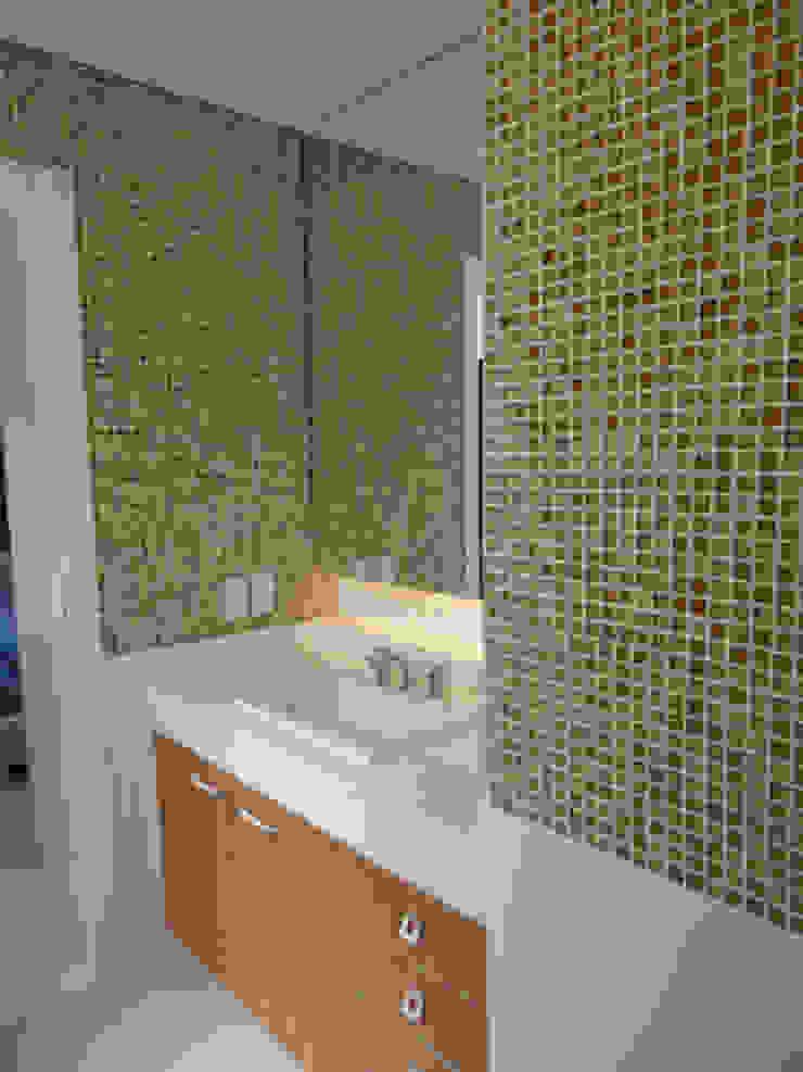 Conceito banheiro por Lucio Nocito Arquitetura Banheiros ecléticos por Lucio Nocito Arquitetura e Design de Interiores Eclético