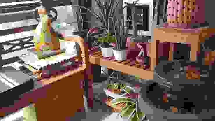 Varanda Zen por Lucio Nocito Arquitetura Varandas, alpendres e terraços rústicos por Lucio Nocito Arquitetura e Design de Interiores Rústico