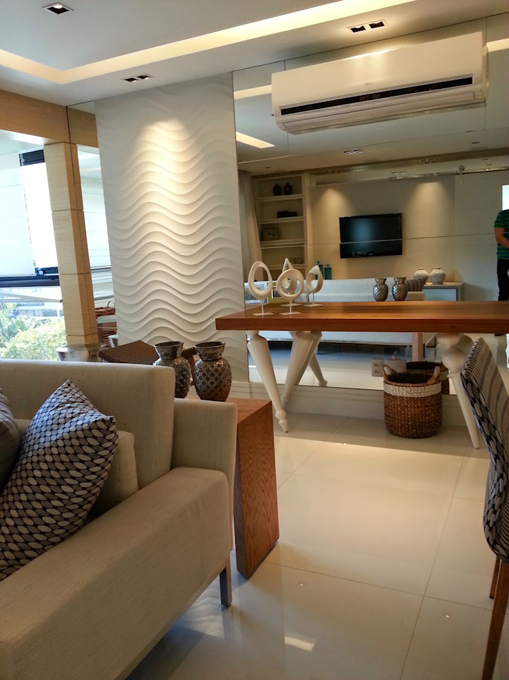 Conceito living por Lucio Nocito Arquitetura Salas de estar modernas por Lucio Nocito Arquitetura e Design de Interiores Moderno