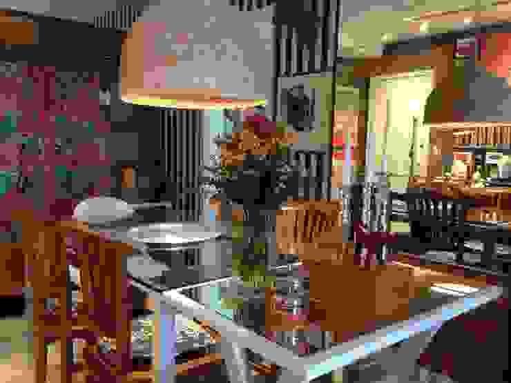 Sala de jantar com muito estilo. Salas de jantar ecléticas por Lucio Nocito Arquitetura e Design de Interiores Eclético