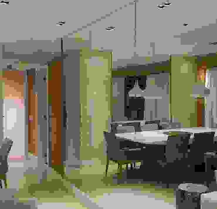 Sala de jantar apartamento alto padrão na Barra da Tijuca RJ Salas de jantar modernas por Lucio Nocito Arquitetura e Design de Interiores Moderno