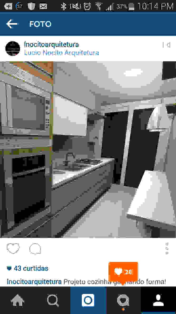 Projeto cozinha por Lucio Nocito Arquitetura e Design de Interiores Rio Cozinhas modernas por Lucio Nocito Arquitetura e Design de Interiores Moderno