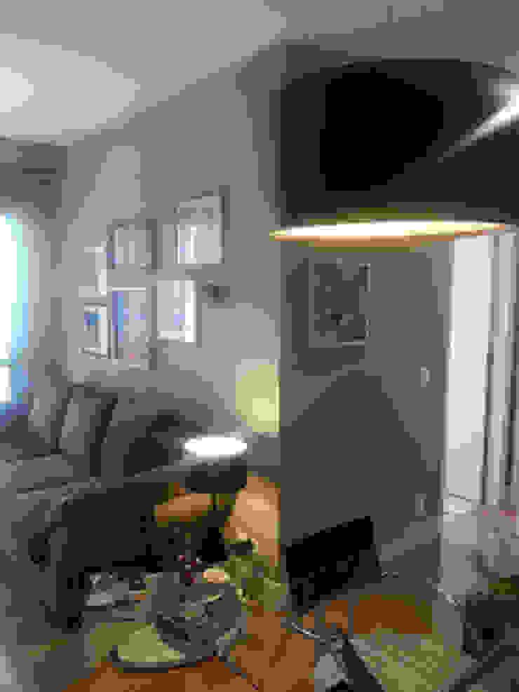 Saudades de estar para apartamento em Bela Vista SP. Salas de estar ecléticas por Lucio Nocito Arquitetura e Design de Interiores Eclético
