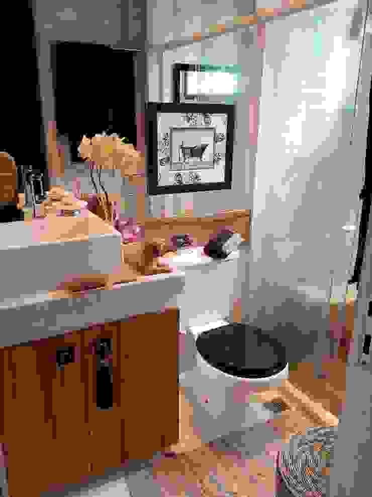 Conceito banheiro masculino por Lucio Nocito Arquitetura Banheiros ecléticos por Lucio Nocito Arquitetura e Design de Interiores Eclético