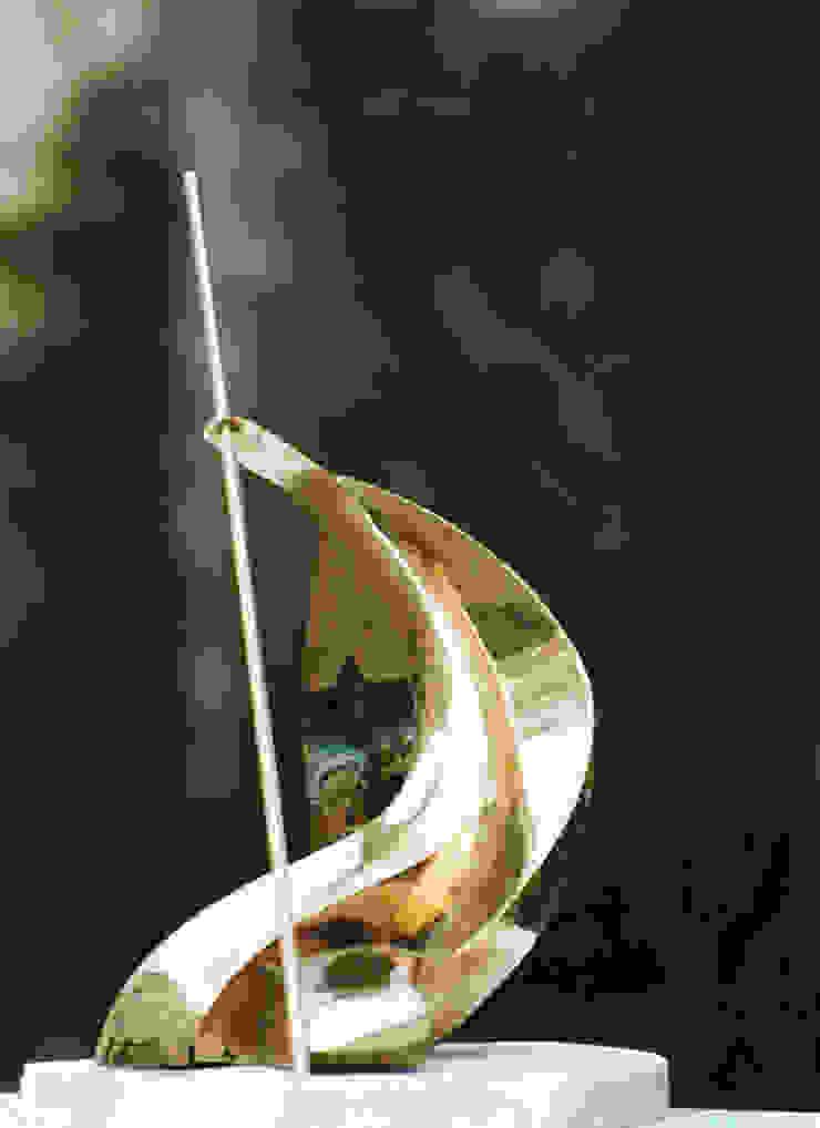 Curves Beeldhouwerij van Velzen Kunst Sculpturen Koper / Brons / Messing Amber / Goud