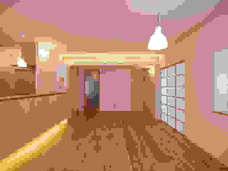 Oleh i think一級建築設計事務所 Skandinavia Kayu Wood effect