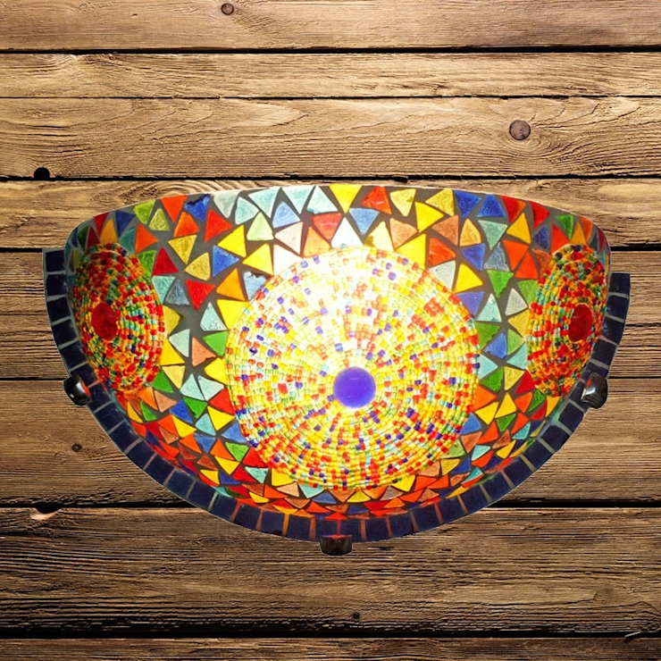 Wandlamp glasmozaiek:  Woonkamer door El Kantra,