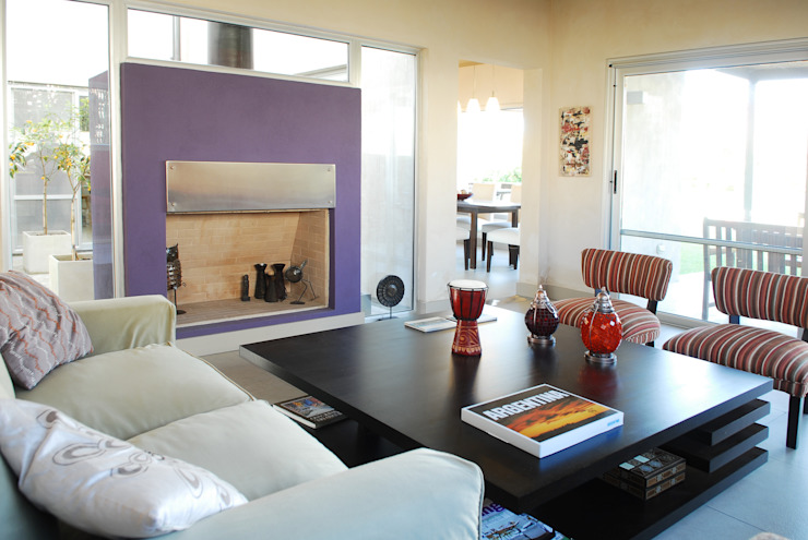 Salas de estar modernas por LLACAY arquitectos Moderno
