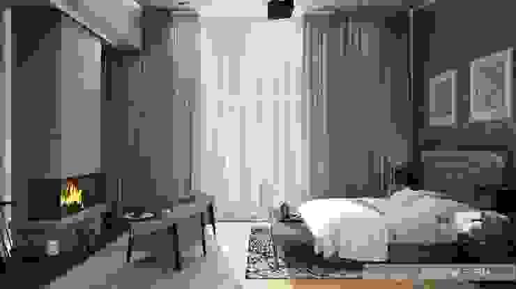 Спальная Спальня в эклектичном стиле от ELENA SKUTOVA Эклектичный