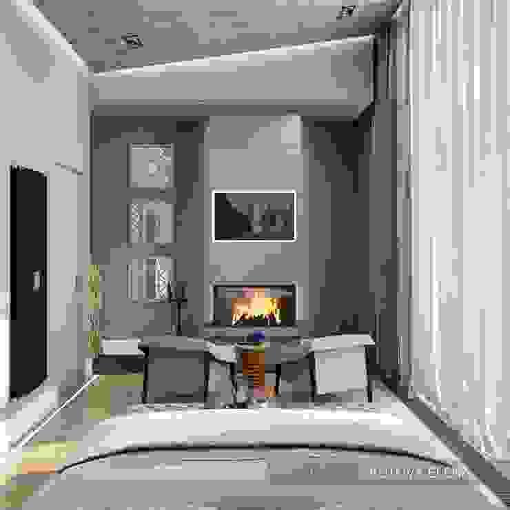 Частный 2-х этажный дом <q>Западная долина</q> Спальня в эклектичном стиле от ELENA SKUTOVA Эклектичный